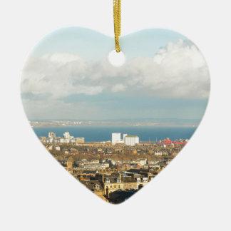 Edinburgh panorama christmas ornament