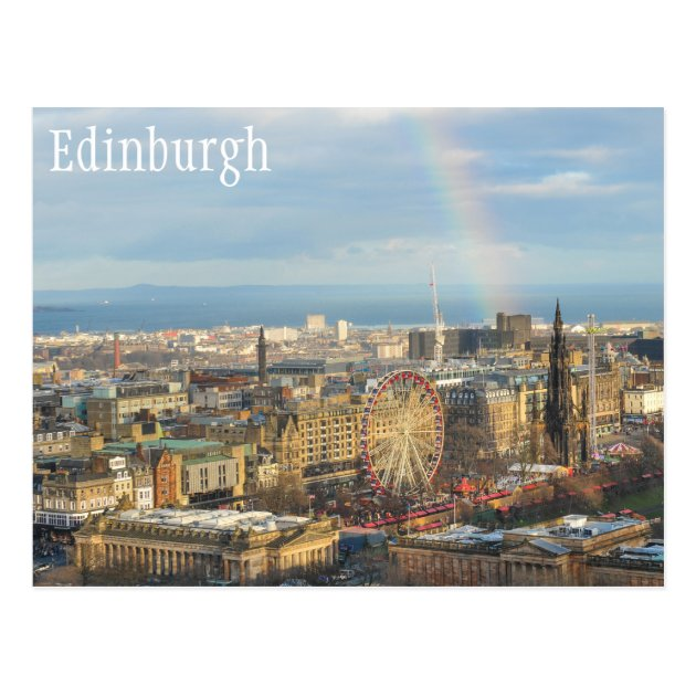 Id Tag Suitcase Carry Cityscape,Edinburgh Aerial View Good-looking