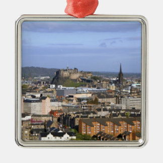 Edinburgh, Scotland. A view overlooking central Christmas Ornament