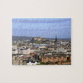 Edinburgh, Scotland. A view overlooking central Jigsaw Puzzle