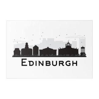 Edinburgh Scotland | Black and White Skyline Acrylic Print