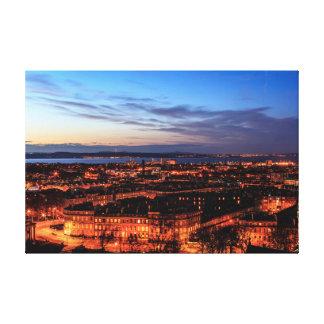 Edinburgh, Scotland Cityscape by Night Gallery Wrap Canvas