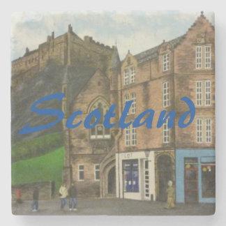 Edinburgh Scotland painting Stone Coaster