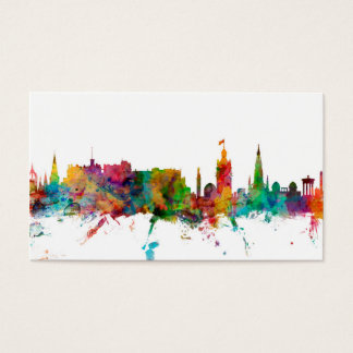 Edinburgh Scotland Skyline Business Card