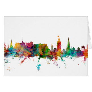 Edinburgh Scotland Skyline Greeting Cards