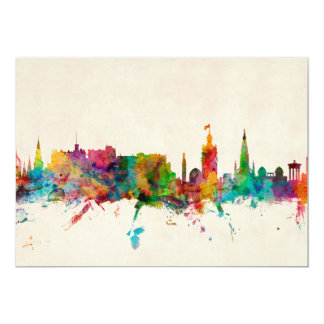 Edinburgh Scotland Skyline Card