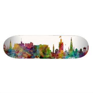 Edinburgh Scotland Skyline Custom Skate Board