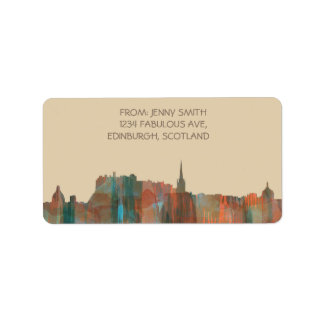 Edinburgh Scotland Skyline-Navaho Address Label