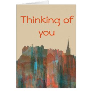 Edinburgh Scotland Skyline-Navaho Greeting Card