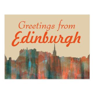 Edinburgh Scotland Skyline-Navaho Postcard