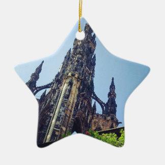 Edinburgh Scott's Monument Ceramic Star Decoration