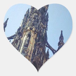 Edinburgh Scott's Monument Heart Sticker