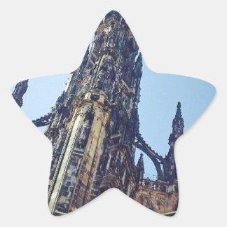 Edinburgh Scott's Monument Star Sticker