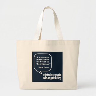 Edinburgh Skeptics - Hume Quote Large Tote Bag