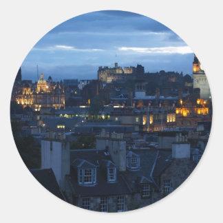 Edinburgh Skyline Classic Round Sticker
