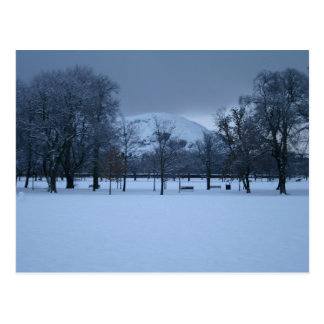 Edinburgh - The Meadows in winter Postcard
