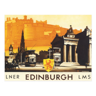Edinburgh via LNER Rail Poster Postcard