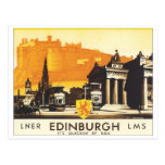 Edinburgh Vintage Travel Poster Post Cards