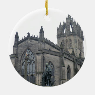 Edinburgh's St Giles Cathedral Round Ceramic Decoration