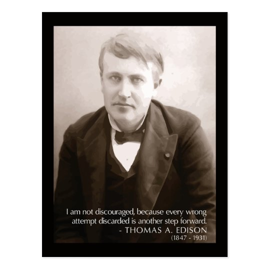 Edison 'another step forward' Quote Postcard