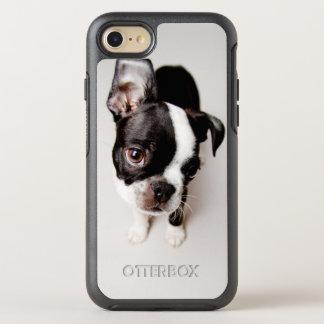 Edison Boston Terrier puppy. OtterBox Symmetry iPhone 8/7 Case