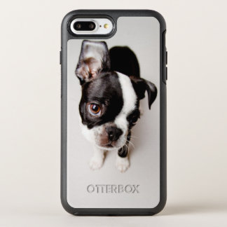 Edison Boston Terrier puppy. OtterBox Symmetry iPhone 8 Plus/7 Plus Case
