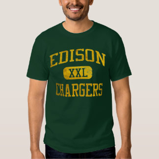 Edison Chargers Athletic T-shirt - Green