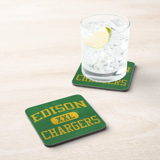 Edison Chargers Athletics Drink Coaster