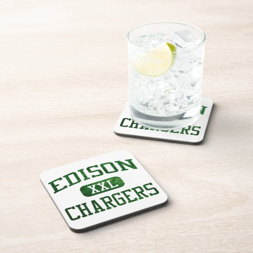 Edison Chargers Athletics Beverage Coasters