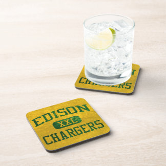 Edison Chargers Athletics Drink Coasters