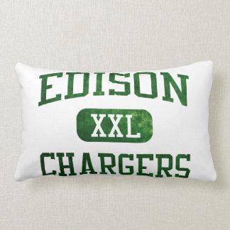 Edison Chargers Athletics Throw Pillows