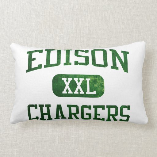 Edison Chargers Athletics Throw Pillows