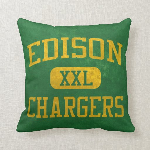 Edison Chargers Athletics Pillows