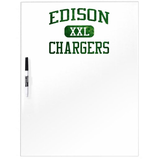 Edison Chargers Athletics Dry-Erase Board