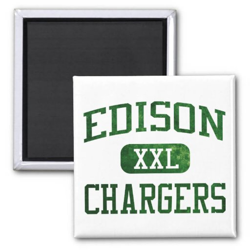 Edison Chargers Athletics Refrigerator Magnet