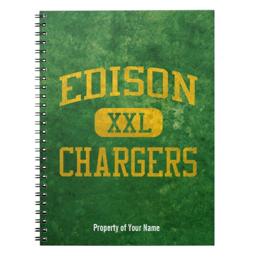 Edison Chargers Athletics Note Book