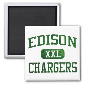 Edison Chargers Athletics Square Magnet