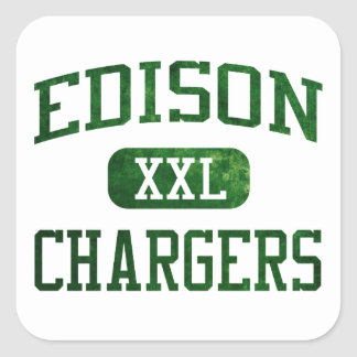 Edison Chargers Athletics Square Sticker