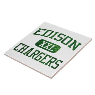 Edison Chargers Athletics Ceramic Tile