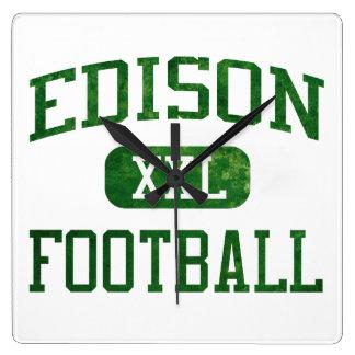 Edison Chargers Football Clocks