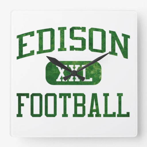 Edison Chargers Football Clocks