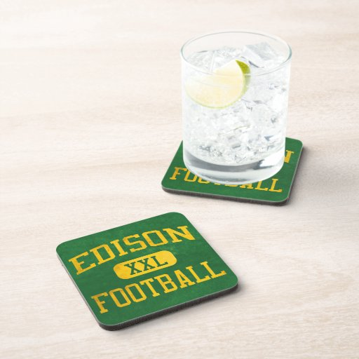 Edison Chargers Football Drink Coasters