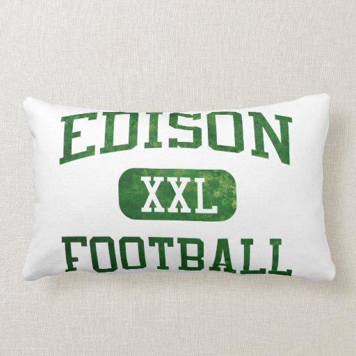 Edison Chargers Football Pillows