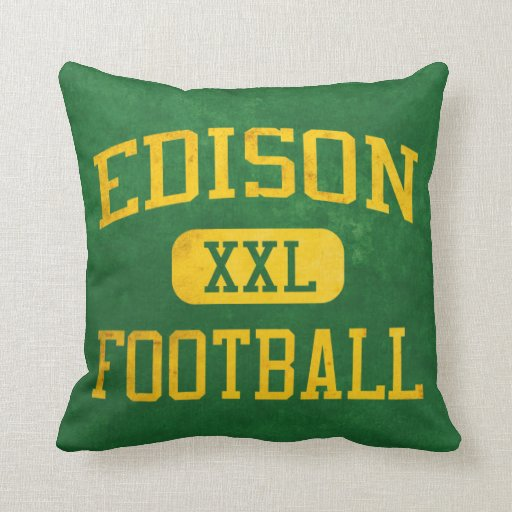 Edison Chargers Football Pillow