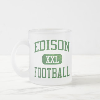Edison Chargers Football Frosted Glass Mug