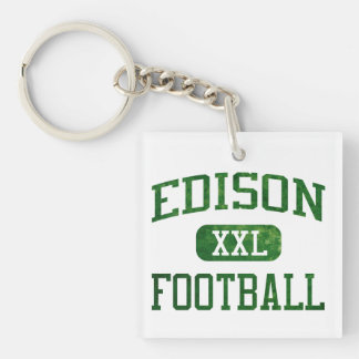 Edison Chargers Football Square Acrylic Keychains
