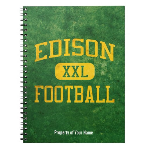 Edison Chargers Football Spiral Note Book