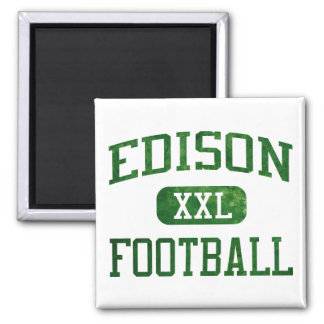 Edison Chargers Football Square Magnet