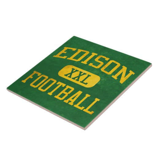 Edison Chargers Football Ceramic Tile