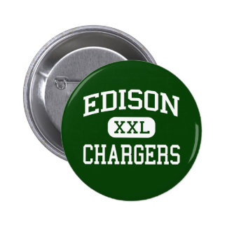 Edison - Chargers - High - Huntington Beach 6 Cm Round Badge